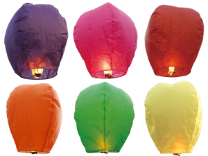 "See our Facebook Pages to contact us during the ""off season"" for sky lanterns"